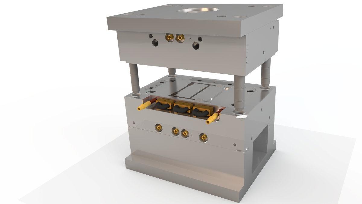induktiv-variotherm temperiertes Spritzgießwerkzeug