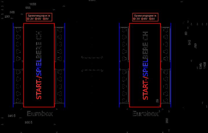 Abmessungen der Spielbahn des KL-Wettbewerbs 2020